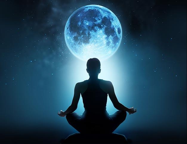 Man meditating on dream interpretation